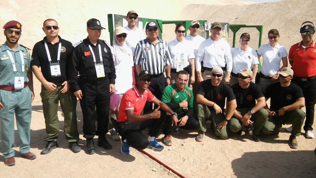 A magyar lövész csapat a szlovén és a marokkói csapattal